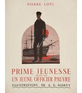 LOTI (Pierre). Prime jeunesse suivi de Un jeune officier pauvre. Illustrations de A. E. Marty.