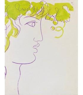 [A LA RECHERCHE DE L'IVRESSE] Edition originale de cet ensemble de textes consacrés au vin. Eaux-fortes en couleurs de Uzelac.