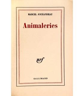 JOUHANDEAU (Marcel). Animalerie. Edition originale. Un des 30 premiers exemplaires numérotés sur vélin de Hollande.