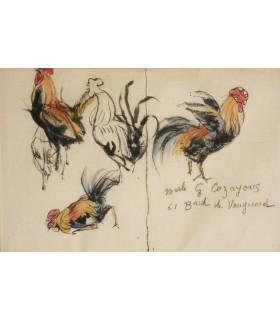 LA FONTAINE (Jean de). Quelques fables. Illustrations de Jules Chadel. Reliure de Semet et Plumelle. Exemplaire sur vieux Japon.