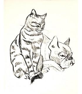 COLETTE. Douze dialogues de bêtes. Lithographies de Maurice Mourlot.