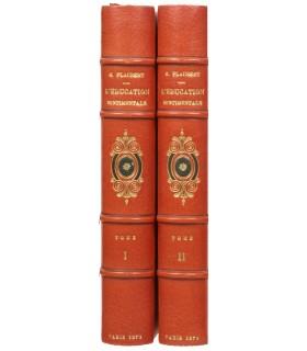 FLAUBERT (G.). L'Education sentimentale. Histoire d'un jeune homme. Edition originale. Ex. sur Hollande. Reliure de Noulhac.