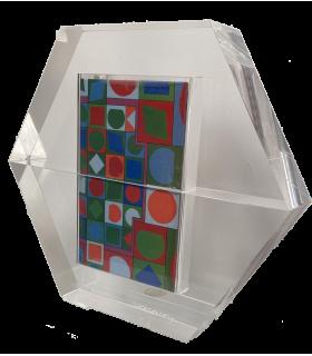 VASARELY (Victor). Hexagone. Edition originale de ces quatre albums publiés par les Laboratoires Pfizer. Livre-objet.