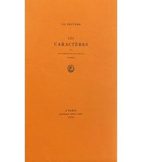 TYPOGRAPHIE. LA BRUYERE (Jean de). Les Caractères, ou les Mœurs de ce siècle (extraits). Illustration de Andrée Derck.