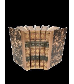 MONTESQUIEU. De l'esprit des lois. 5 volumes. Reliures de Thouvenin.