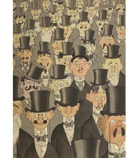 COURTELINE (Georges).  Messieurs les Ronds-de-cuir. Tableau-roman de la vie de bureau. Illustrations de Dubout.
