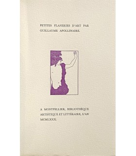 APOLLINAIRE (Guillaume). Petites flâneries d'art. Edition originale.