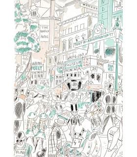 MORAND (Paul). Tendres stocks. Vignettes en couleurs de Chas-Laborde. Reliure de Marion Blin.