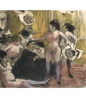 MAUPASSANT (Guy de). La Maison Tellier. Illustrations d'Edgar Degas.