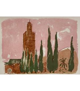 COLETTE. Fleurs du désert. Lithographies originales de Christian Caillard.
