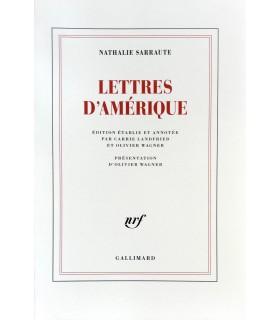 SARRAUTE (Nathalie). Lettres d'Amérique. Edition originale.