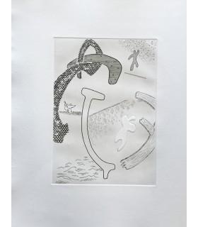 SAINT-JOHN PERSE. Etroits sont les vaisseaux. Burins originaux de Roger Vieillard.