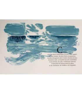 VALERY (Paul). Regards sur la mer. Lithographies originales de Sarthou. Envoi autographe.
