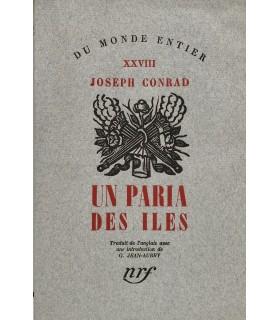 CONRAD (Joseph). Un paria des îles. Edition originale de cette première traduction française.