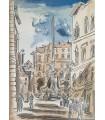 L'AIGLE (Marie de). Rencontres dans Rome. Edition originale. Aquarelles originales d'Hermine David.