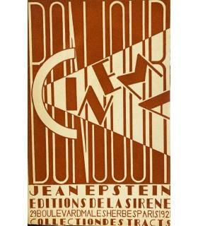 EPSTEIN (Jean). Bonjour cinéma. Edition originale. Illustrations de Claude Dalbanne.