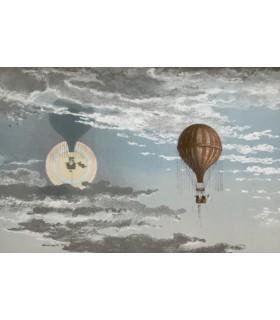 GLAISHER (James), FLAMMARION (Camille), FONVIELLE (Wilfrid de) et TISSANDIER (Gaston). Voyages aériens. Edition originale.