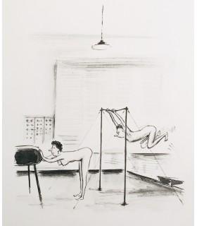 [CURIOSA] TESTU (Roger). Dessins. Des que. Des Q. Illustrations de Roger Testu.