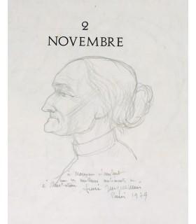BARRES (Maurice). 2 novembre. Illustrations originales d'André Jacquemin. Envoi autographe de l'artiste.