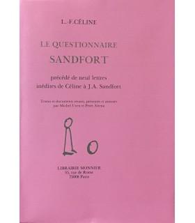 CELINE (Louis-Ferdinand). Le Questionnaire Sandfort. Edition originale illustrée d'un portrait-frontispice de Sandfort.