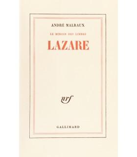 MALRAUX (André). Lazare. Edition originale.