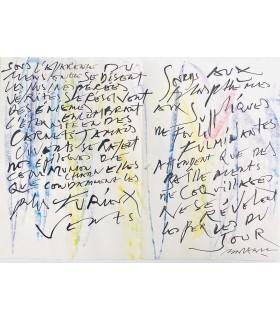 BALTAZAR (Julius). Couteaux tirés à 4 épingles. Edition originale. Gravure originale et manuscrit autographe d'un des poèmes.