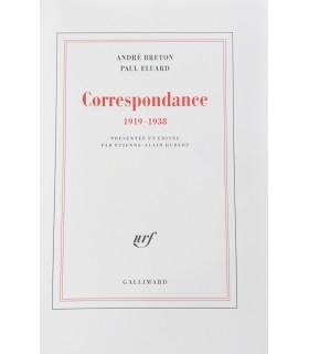 BRETON (André) - ELUARD (Paul). Correspondance 1919-1938. Edition originale.