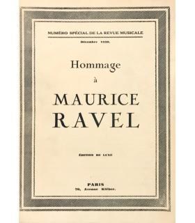 [RAVEL (Maurice)] Hommage à Maurice Ravel. Numéro spécial de la Revue Musicale. Edition de luxe.
