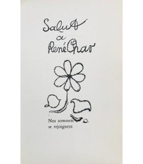 BENOIT (Pierre-André). Salut à René Char. Edition originale, illustrée d'un dessin de Georges Braque.