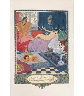 TOUSSAINT (Franz). Le Jardin des caresses. Illustrations de Léon Carré. reliure ornée de 2 compositions originales non signées.
