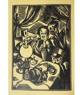 POE (Edgar Allan). Histoires grotesques et sérieuses. Reliure de Septier. Bois original de Daragnès.