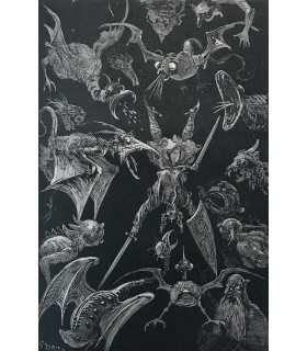 L'EPINE (Ernest). La Légende de Croque-Mitaine. Illustrée de 177 vignettes sur bois de Gustave Doré. Reliure de Champs.