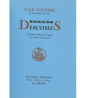 COCTEAU (Jean). Discours à L'Académie royale de langue et de littérature française. Edition originale