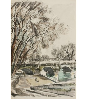 MAC ORLAN (Pierre). Surprenants visages de Paris. Edition originale illustrée par Gaston Barret. Reliure par Blondeau.