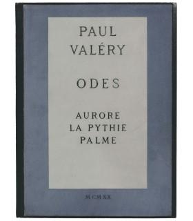 VALERY (Paul). Odes. Aurore. La Pythie. Palme. Illustrations de Paul Vera. Reliure de P.-L. Martin.