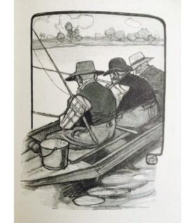 MAUPASSANT (Guy de). Les Dimanches d'un bourgeois de Paris. Edition originale. Dessins de Geo-Dupuis. Reliure par Alfred Farez.