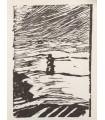 DEON (Michel). De Nazaré... Bois originaux par George Ball. Envoi autographe signé de l'auteur au couple relieur Miguet