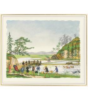 VERNE (Jules). Le Tour du monde en quatre-vingts jours. Illustrations de Henri Lemarié.