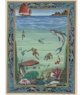 ANIANTE (Antonio). Les Merveilleux Voyages de Marco Polo. Illustrations de Jean Gradassi. Exemplaire sur papier Sang Tien Tang