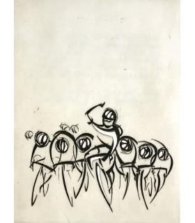NUCERA (Louis). A bicyclette. Illustrations d'Alain Bar. Reliure d'Astrid Zach.